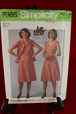 Simplicity 7965 Size 12 Clothing Pattern