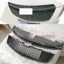 2x For Chevrolet Cruze 2009-2014 Front Upper Lower Grille Carbon Fiber ABS Frame