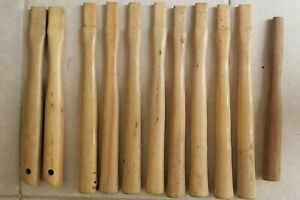 Lot of 11 Various Hickory Replacement Handles ~ Hammer