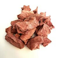 Dog Cat Treats RAW Beef Hearts Freeze Dried 100% Made in USA Alpha Chef Training