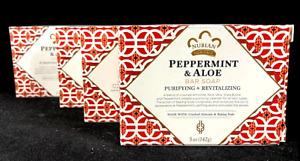 Nubian Heritage Bar Soap Peppermint & Aloe 5 oz ea (LOT OF 4)