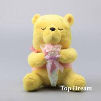 Disney Winnie the Pooh Yellow Bear Plush Doll Soft Stuffed Toy 9'' Sitting Teddy