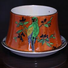 Wiltshaw & Robinson Carlton Ware Sugar Bowl & Saucer, Parrots Pattern 3037