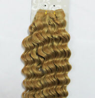 "18""20""22""26"" Remy Curly Deep Weft Human Hair Extensions Weave 100g More Color"