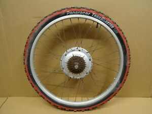 "24 Volt Electric Bicycle Rear Wheel 26"" Alloy Rim + Freewheel + Tyre"