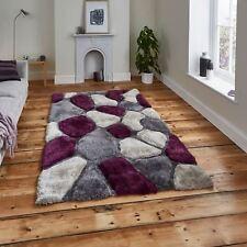 Nobel House Pebble Rug 120cm X 170cm Purple Grey Large Stones Thick Pile Soft