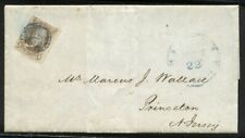 U.S. #1 on Cover - 1847 5c Red Brown ($470)
