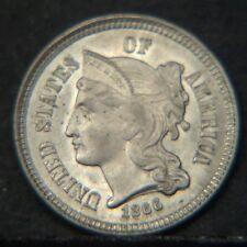 1866 Three Cent (Nickel) BU (D0554)