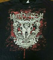 Lamb of God Dead Seeds 2008 Concert Tour shirt Black Adult 2XL LoG Heavy Metal