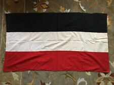 Original Old Ww1 Imperial Kaiser German Germany Triband Flag Banner Cotton