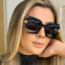 Fashion Oversized Women Square Sunglasses Ladies Retro Designer Cat Eye Glasses
