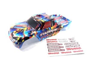 New Traxxas Stampede Rock n Roll Edition Painted Body Shell & Decals XL-5 VXL