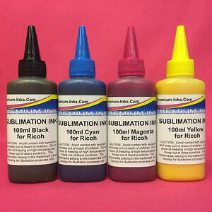400ML DYE SUBLIMATION INK FOR RICOH SG 400 800 2100N 3100 3110 7100 DN GC 31 41