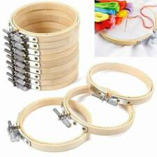 10pc Marco De Madera Bordado Aro Anillo Cruz Puntada Costura hágalo usted mismo Herramienta de bambú Craft