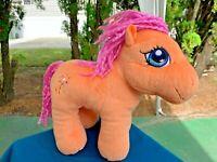 """Vintage My Little Pony Orange Horse Lovey 9"""" Plush Stuffed Animal Toy"""