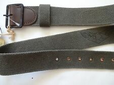New Ralph Lauren RRL Military Army Green Leather & Canvas Belt 30