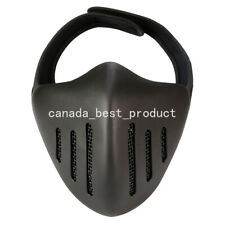 Tactical Airsoft Metal Mesh Breathable Protection Half Face Mask Black