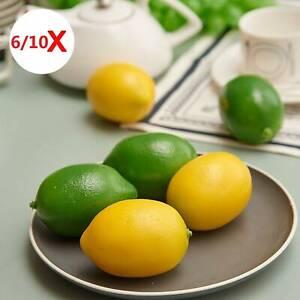 6/10Pcs Lemon Lifelike Artificial Fake Fruit Imitation Home Party Decors