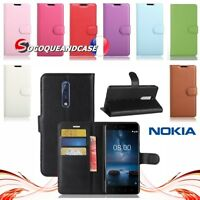 Etui coque housse XCOLOR PU Leather Wallet case Cover pour NOKIA 1 2 5 6 7 8 & 9