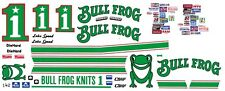 #1 Lake Speed Bull Frog Knits 1/32nd Scale Slot Car Waterslide Decals