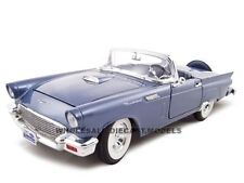 1957 FORD THUNDERBIRD BLUE 1:18 DIECAST MODEL CAR BY ROAD SIGNATURE 92358