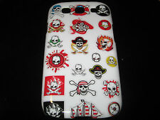 Skulls Hard Cover Case for Samsung Galaxy III S3 i9300 Jolly Roger Flame Ship