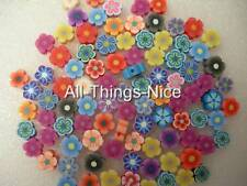 Polymer FIMO Clay 8-12mm FLOWER Beads Jewellery Making Art Craft Findings 100