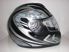 Motorradhelm Germot GM206 Sonnenblende Größe S schwarz/silber    NEU