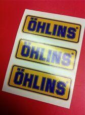 3 Adesivi OHLINS ammortizzatori pistoncino Yellow e Blu