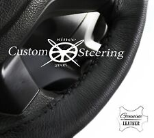 FOR VW TRANSPORTER T5 03-10 BLACK LUXURY LEATHER STEERING WHEEL COVER 2 STITCH