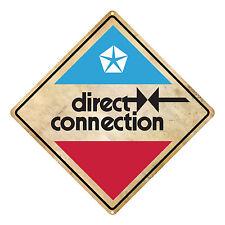 CHRYSLER MOPAR DIRECT CONNECTION TIN SIGN