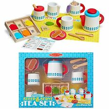 MELISSA AND DOUG STEEP & SERVE TEA SET WOODEN  PLAY SET BRAND NEW & SEALED