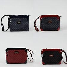 Unifarbene Damentaschen aus Kunstleder mit Ziehschleife