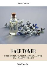 Rose Water Facial Toner with Sweet Almond Oil, Hyaluronic acid 120ml