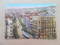 VINTAGE POSTCARD - RUE MICHELET - ALGER - ALGIERS - ALGERIA