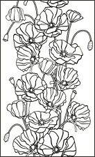 Flower - Flowers - Poppy - Poppies - Frame Unmounted Clear Stamp Approx 60x40mm