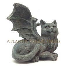 Set Of 2 Overseer Winged Feline Cat Gargoyle Pc Topper Shelf Decor Figurines