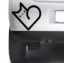 Love Cat Heart Vinyl Decal DieCut Sticker Wall Car Bumper Xbox Laptop Window