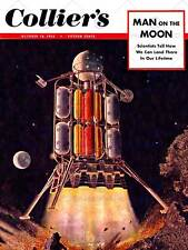 Science Magazine COVER colliers MAN MOON nave CRAFT art print poster bb7322b