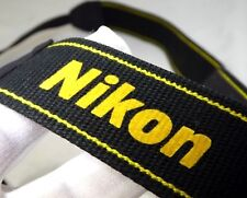Nikon Black Yellow Digital Camera Shoulder AN-DC3  Neck Strap Free Shipping USA