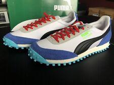 Puma Fast Rider Ride On White/Blue UK9.5