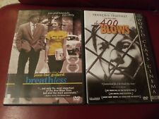 The 400 Blows Fox Lorber Dvd + Breathless Fox Lorber Dvd. Preowned.