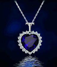 Titanic Heart of the Ocean Crystal Rhinestone BLUE Pendant Necklace Jewellery(A)