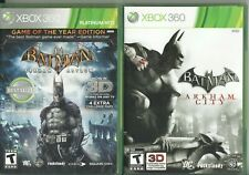 Video Game Lot - BATMAN 2-PACK - Arkham Asylum GOTY / Arkham City - Xbox 360