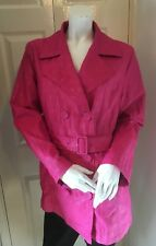 Marks & Spencer Per Una Womens Pink Hip Length Trench Mac UK 14