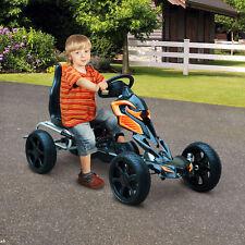 HOMCOM Pedal Go Cart Ride-on Kids Children Outdoor Fun Games EVA Wheels Safe