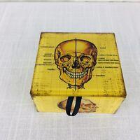 Day of The Dead Sugar Skull Purple Jewelry Trinket Keepsake Box W// Magnetic Lid