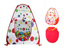 POP UP TENT SPOTTY POLKA DOT PLAYHOUSE IGLOO CHILDREN KIDS TODDLER IN/ OUTDOOR