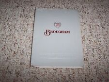 1988 Cadillac Brougham Sedan Owner Owner's Manual User Guide 5.0L V8