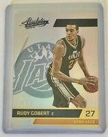 RUDY GOBERT 2015 Panini #41 Absolute Spectrum Gold SSP #5 of 10 Utah Jazz 5/10